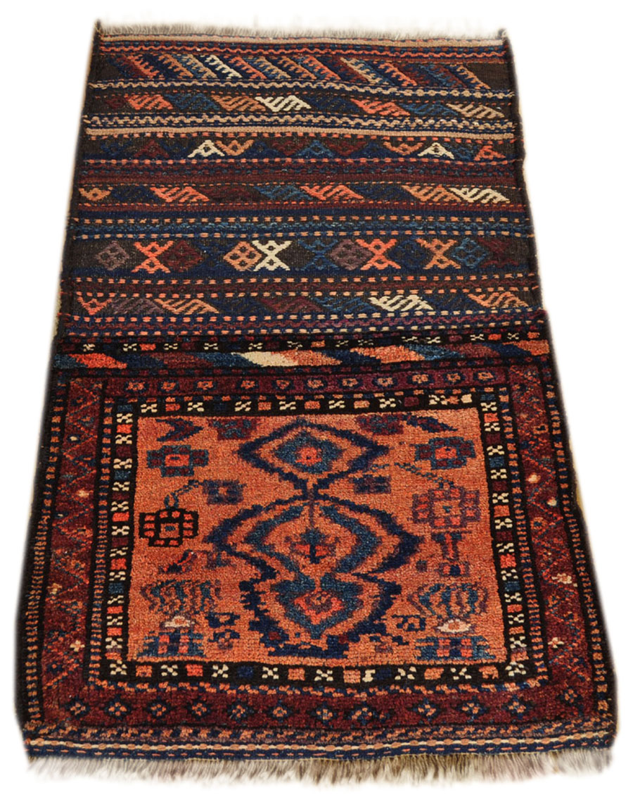 alter persischer mafrash nomaden teppich 130 x 80 cm. Black Bedroom Furniture Sets. Home Design Ideas
