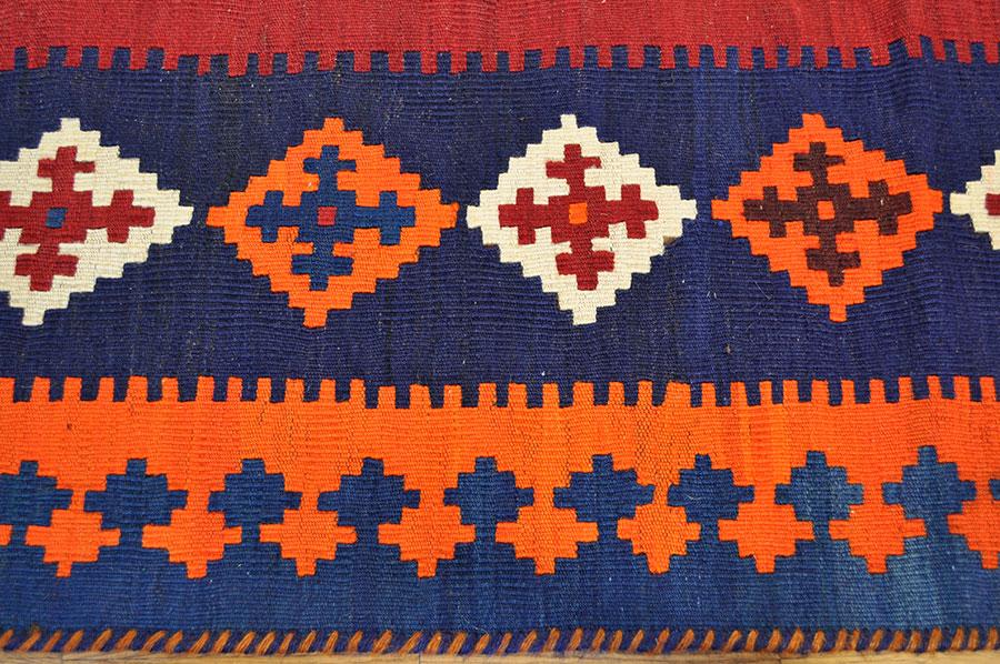 Nomaden Teppich Kelim Fars 249 x 164 cm Kilim Tribal Rug