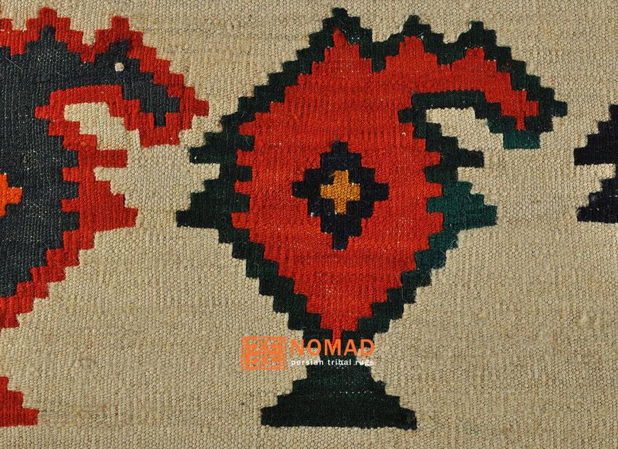 Nomaden Teppich Kelim Fars 190 x 120 cm kilim tribal rug