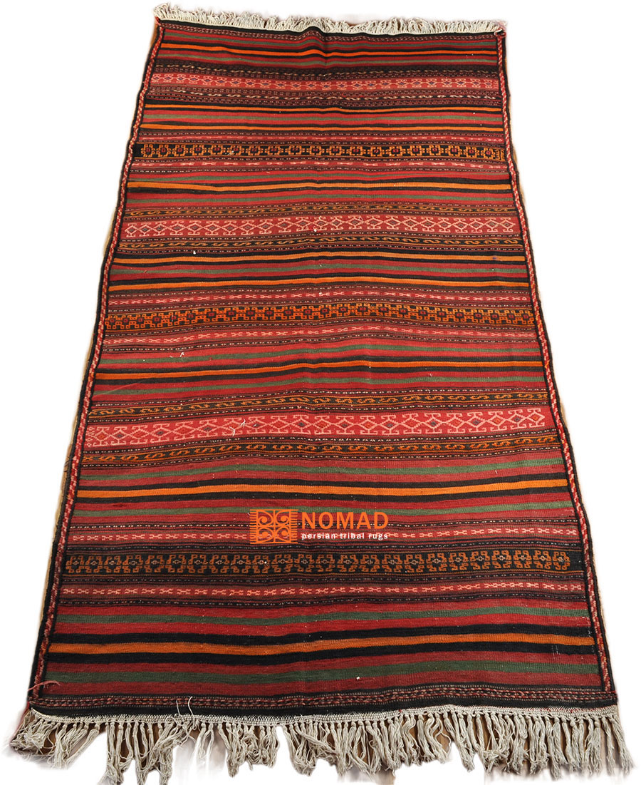 sehr robuster Nomaden Teppich Kelim Kordi 300 x 154 cm